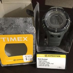 Timex Shock-Resistant Compass Watch.